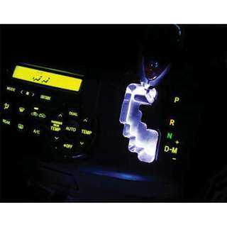 TOYOTA ALPHARD VELLFIRE ANH20 2008 - 2014 Gear Shift Knob Panel Cover LED Light Plate (White)