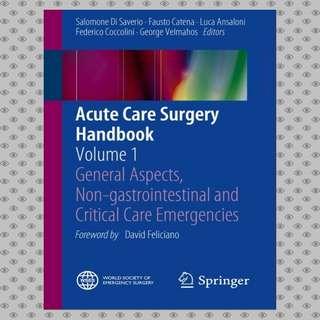 Acute Care Surgery Handbook Volume 1 Ebook