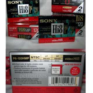 SONY HI 8 - 8mm Video Cassette P6-120HMP -NTSC Format