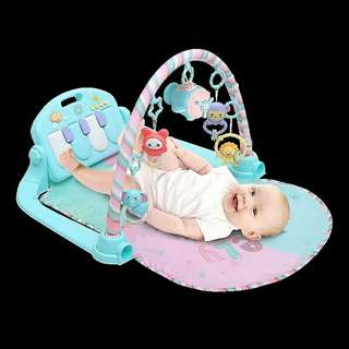 Baby activity play mat with piano