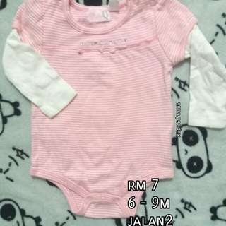(6-9m) Baby girl romper (bling2)