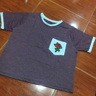 Pocket tee Croptop