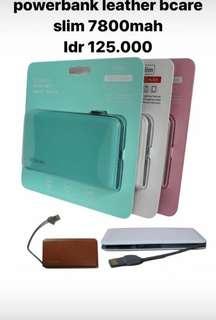 Powerbank slim bcare 7800 mah pink & putih