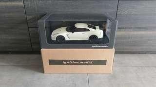 1/18 Ignition Model Nissan GT-R Nismo R35 (Brilliant Pearl White)