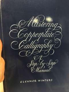 Calligraphy book 英文書法書