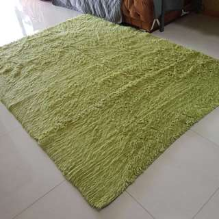 Hardly Used Green Carpet (Indoor) For Sale