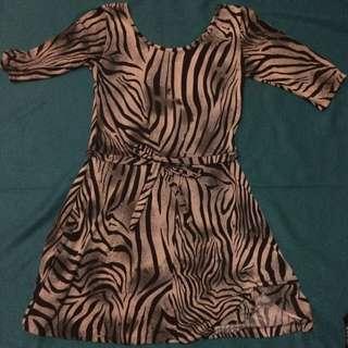 Preloved Animal Printed Dress