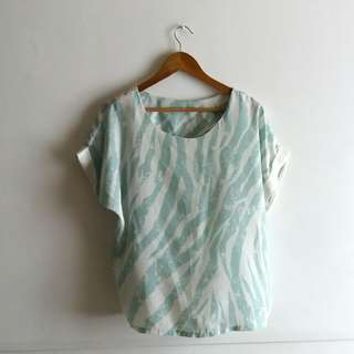 (Repriced) Oversized Mint Green Tee