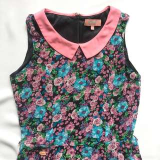 CANDIE'S Pink Collared Floral Dress