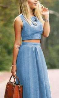 Top & skirt terno