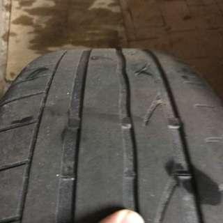 4 pieces RFT Bridgestone 225/55 r17 + original rim