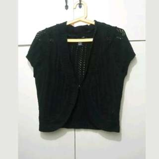 WA576 H&M Black Knitted Bolero - Medium