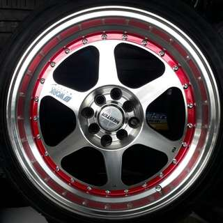 Velg work meister ring 17 inch include ban terima cicilan proses cepat