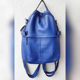 EASE BLUE GENUINE LEATHER BAGPACK
