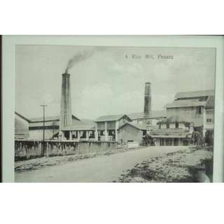 OLD PENANG HISTORICAL PHOTOS WITH WOODEN FRAME & GLASS PHOTO COVER