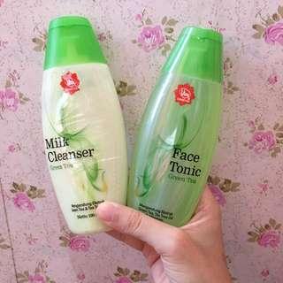 Viva milk cleanser dan face tonic