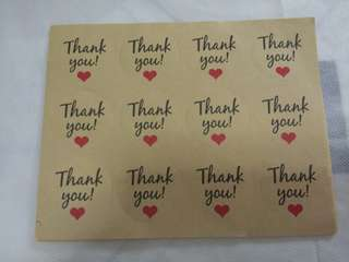 Thankyou sticker