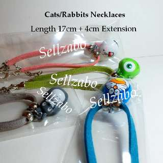 Small Pets (Kittens Cats Rabbits Bunnies) Bell Necklaces Neck Chains Sellzabo Accessories