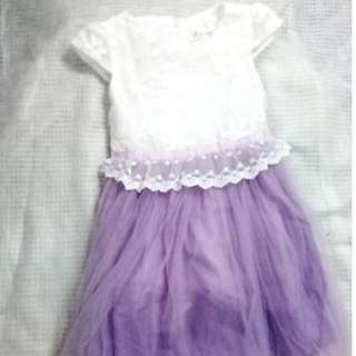 White-Purple dress