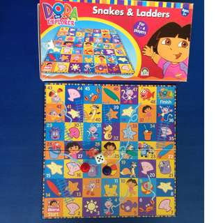 Dora Snakes and Ladders board game