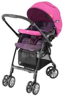 愛普力卡 Aprica [LUXUNA CTS 前瞻系列] - 挑高座椅四輪定位輕量型嬰幼兒手推車