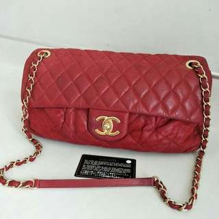 Chanel flap red GHW #15
