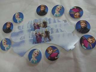 Frozen theme cupcake wrapper and topper
