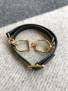 Hermes Etrier double tour bracelet