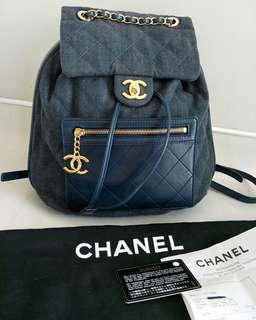 Chanel Denim backpack GHW #23