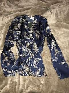 Aritzia rose blouse