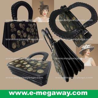 #Black #Vintage #Classic #High-Fashion #Fashion #Design #Designer #High-Class #Black #Leather #Unique #Ladies #Women #Handcarry #Handbags #Clutch #Satchel #Bag #Rigid #Case #Pa-Pa @MegawayBags #Megaway #MegawayBags #CC-0180-81122-Black