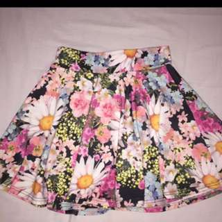 Floral skirt / Flare Skirt Floral Magnolia Rok Selutut