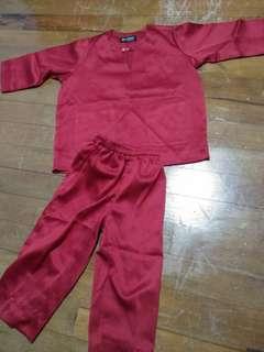 Baju Melayu size 18m-2yo