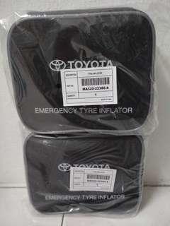 Original toyota emergency tyre pump inflator