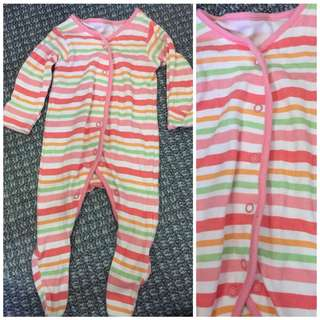 Striped Frogsuit 6-9mos