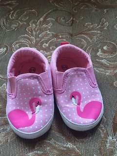 Flamingo Baby Shoes Pink 6-12mos