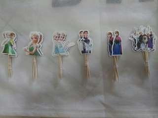 Frozen theme cupcake topper