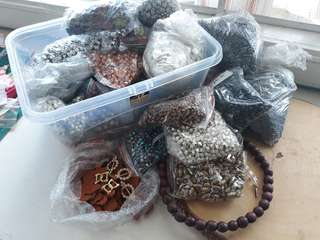 Bundle Lots of Beads, Sequins for Crafting and Accessories