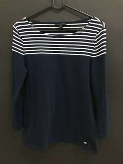 Original blue clothe with white stripes by Tommy Hilfiger