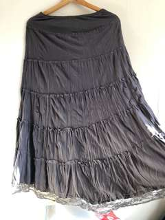 Grey Maxi skirt 10
