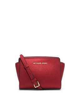 Michael Kors mini red selma bag