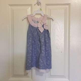 Blue Floral Halter dress top