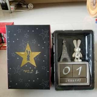 Agnes B 萬年曆 擺設 精品 如圖 送禮 禮物
