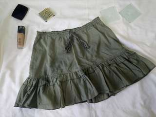 Abercrombie & Fitch Army Green Skirt