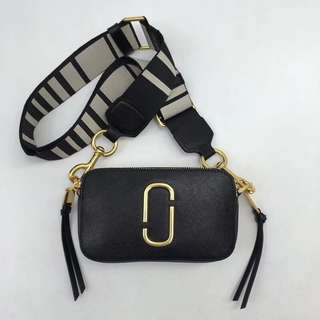 Marc Jacobs Snapshot Camera Bag - black & white
