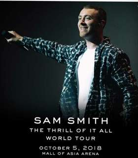 Sam Smith Concert Gen Ad Tickets at MOA, Manila