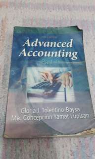 Advance accounting pt 1 2016