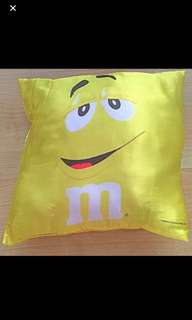 M & M Collectible Bright Yellow Cushion (2018)