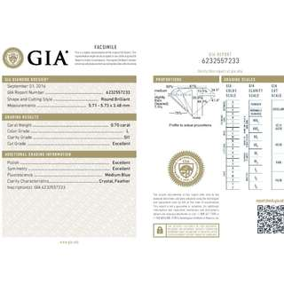 GIA 認證 0.70CT  L color SI1 鑽石