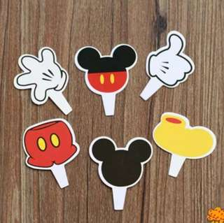 Cupcake Toppers - Mickey Mouse Theme (6 designs of 2 pcs each)